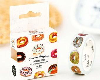 Doughnuts doughnut donut donuts washi tape deco tape masking tape cartoon scrapbook planner happy mail craft bullet journal