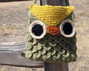 PDF Pattern Crochet Woodland Owl Bag