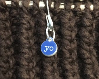 Stitch Markers for knitting - Tiny increase - Yo - yarn over