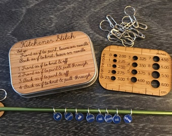 Kitchener Stitch Notions Box and Sock stitch Markers