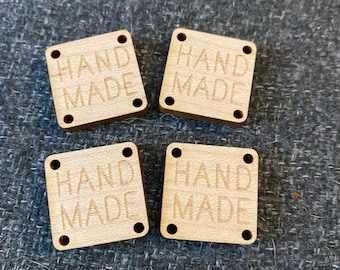 Tags for Handmade items - Maple set of 5