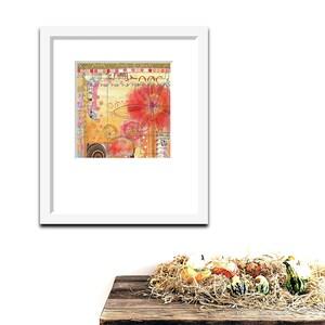 Room Decor Botanical Art Acrylic Art Bright Color Painting Original Art Wall Art Collage Art Floral Art
