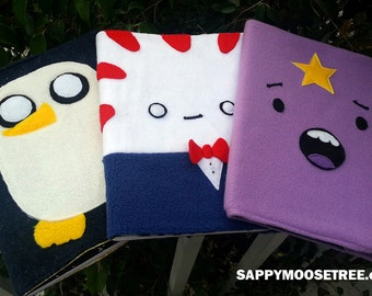 THREE composition notebook covers with book from adventure time, Peppermint Butler, LSP, Gunter penguin - clearance item