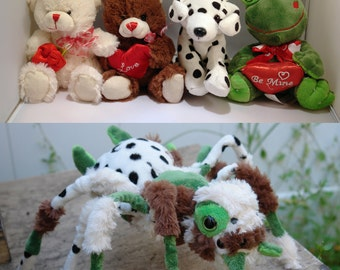 Custom Plush Spider Baby - Made from your old or new toys