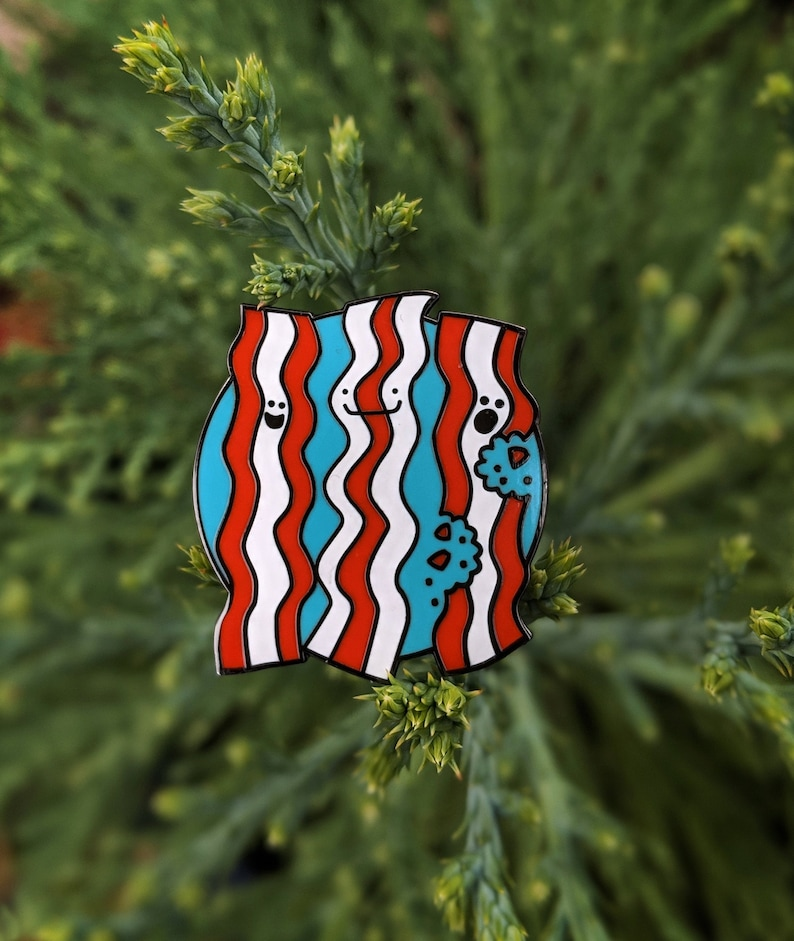 Bacon Delight enamel pin  Sappymoosetree original design in image 0