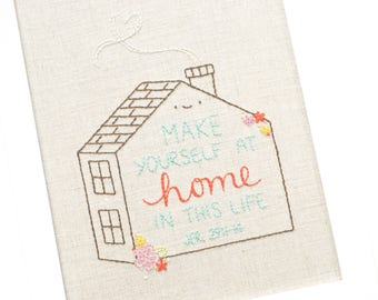 At Home in This Life - PDF Hand Embroidery Pattern