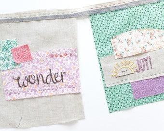 Prayer & Encouragement Words PDF Hand Embroidery Pattern