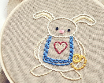 Curiouser - Alice-Inspired Printable Embroidery Pattern