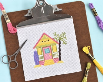 Tiny Houses Through the Year Cross Stitch Patterns