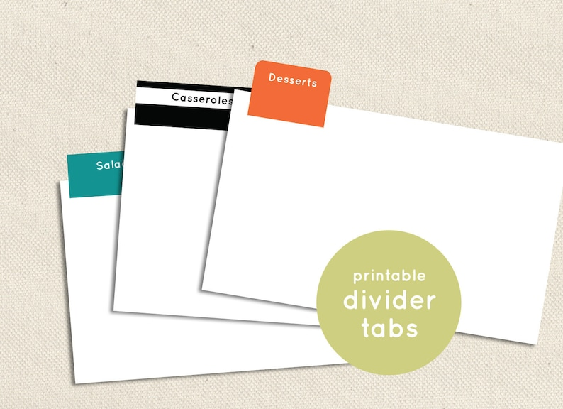 graphic relating to Printable Divider Tabs identified as Printable and Editable Divider Tabs