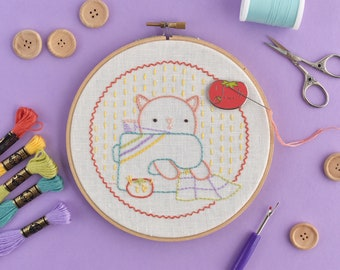 Crafty Critters PDF Hand Embroidery Pattern