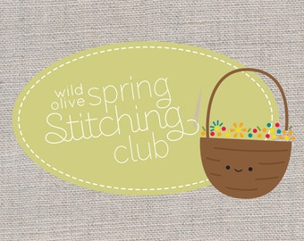 Spring Stitching Club - Embroidery and Quilting Project