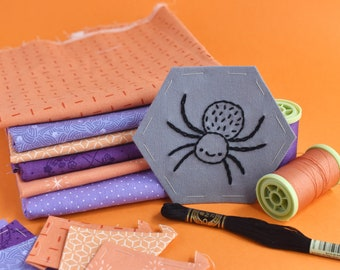 Not So Spooky Stitching Club - Halloween Embroidery & EPP Mini Quilt Project