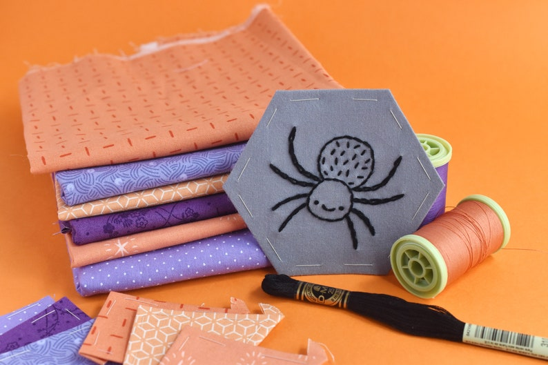 Not So Spooky Stitching Club  Halloween Embroidery & EPP Mini image 0