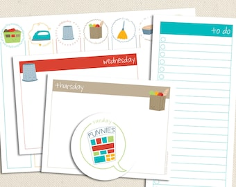 Printable Lists and Planner Pages - Chores of the Week