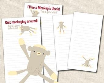 Sock Monkey - Printable To-Do Lists