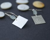SOS Silver and Aquamarine Seal Pup Earrings
