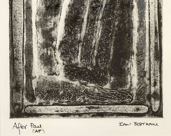 After Paul - collagraph print Artist Proof print