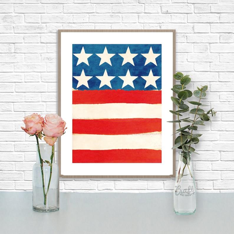 Americana Stars & Stripes Print  Patriotic US American Flag image 1