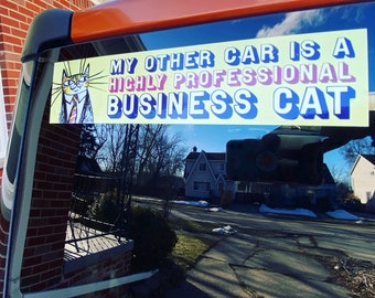 Highly Professional Business Cat Bumper Sticker