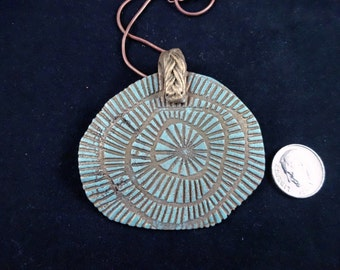 SALE! Bronze pmc clay Pendant Necklace with chain