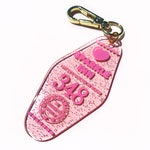 Sparkle Inn Motel Bag Charm Keychain