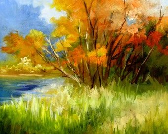 Autumn  gallery wrap canvas,oil painting. Barbara Haviland