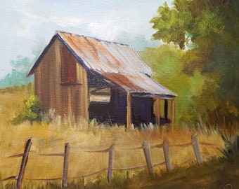 Utah Barn, landscape,oil painting,Barbara Haviland-Texas Landscape Artist