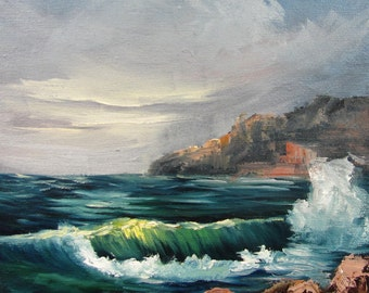 Seascape with Waves and Rocks Barbara Haviland-BarbsGarden