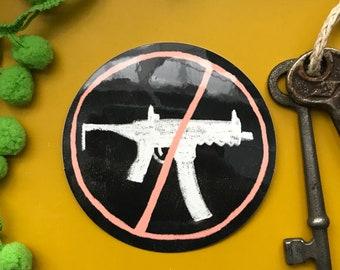 No Guns vinyl sticker