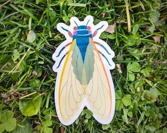 Cicada vinyl sticker