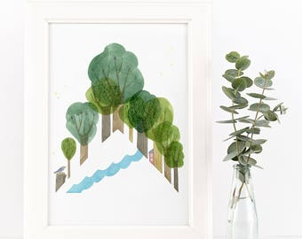 Triangle Forest Giclee Print