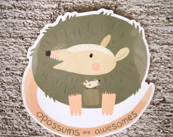 Opossums Are Awesomes vinyl sticker