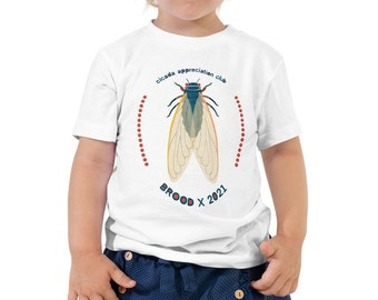 Toddler Cicada Appreciation Club Short Sleeve Tee