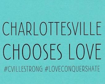 Charlottesville Love Card Turquoise