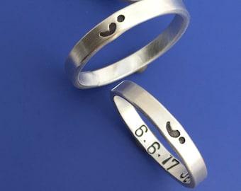 Semi Colon Custom Ring