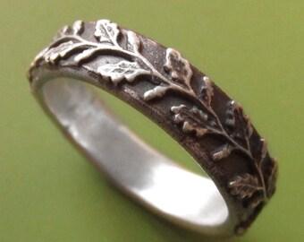 Delicate Oak Ring