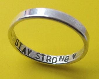Sterling Silver Inner Hidden Message Custom Ring
