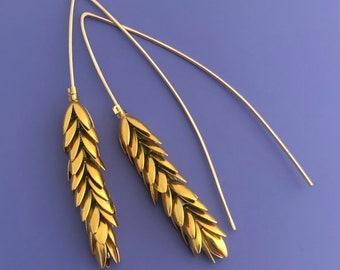 Small Wheat Earrings