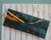 sale Mad About Plaid pencil pouch