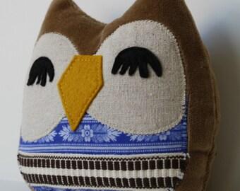 Stuffed Owl -Nolan the Owlet pillow- owl pillow, owl toy,owl plush,stuffed owl toy,owl throw pillow,owl cuddly toy,owl stuffed,nursery decor