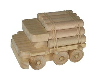 Wooden Toy Logging Truck