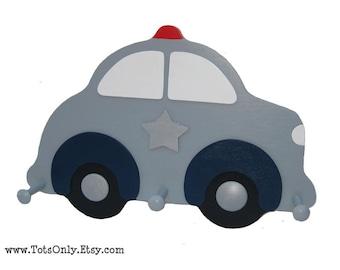 Police Car Wall Peg Rack