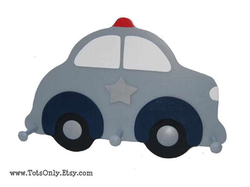 Police Car Wall Peg Rack image 0