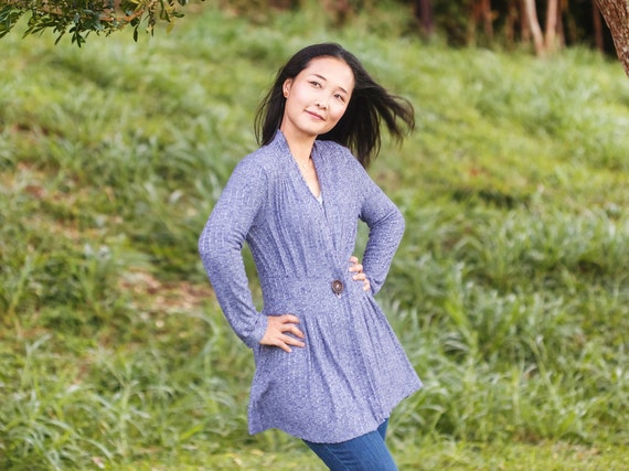 Pdf Sewing Patterns For Women Sweater Sewing Pattern Long Etsy