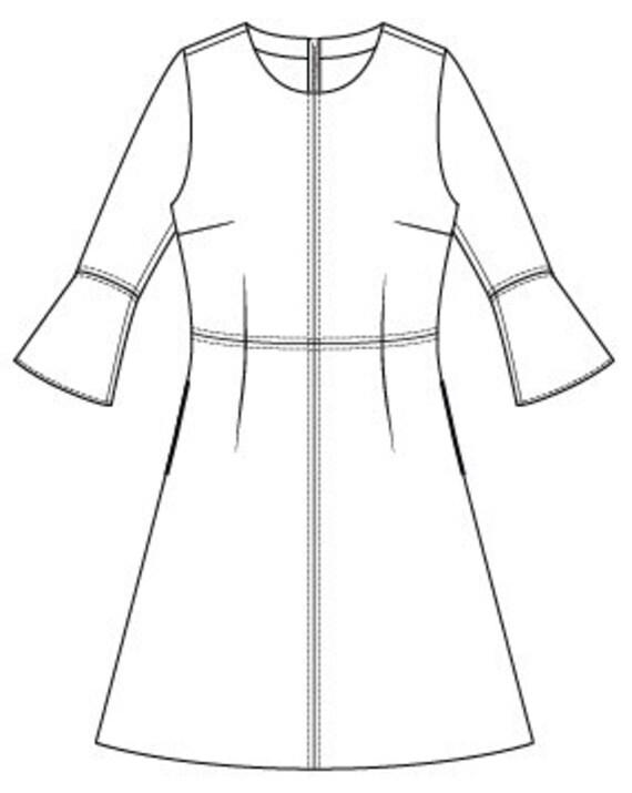 PDF-Schnittmuster für Frauen PDF Muster Kleid Kleiden Sie | Etsy
