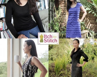 Women's  Idyllwild Top & Dress PDF Sewing Pattern (42 Unique Looks)