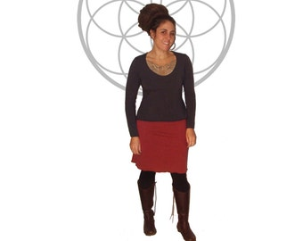 Hemp Skirts - Custom made Solstice Skirt made from Organic cotton and Hemp Terry Cloth  Skirt handmade and dyed with low impact dyes
