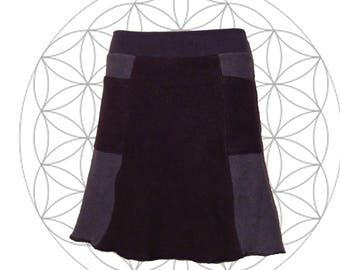 Sample Sale Organic Skirts Ready to Ship in Medium - Custom Made from Organic Cotton and Hemp terry (fleece weight) 2 Pockets Hemp Skirt