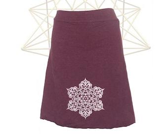 Organic Skirts -Starshine Skirt- Organic Cotton and Hemp Knee length Skirt - Handmade and hand dyed to order - Custom made hemp clothing
